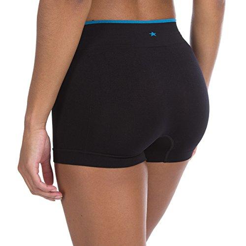 Runderwear Mujeres de frontalera de pantalones calientes ropa interior negro