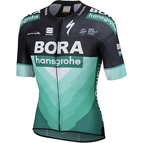 Sportful Bora Hansgrohe Bodyfit Pro Light Jersey - Men's Green/Black, XL from Sportful
