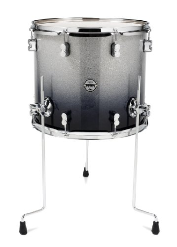 (Pacific Drums PDCM1618TTSB 16 x 18 Inches Floor Tom with Chrome Hardware - Silver to Black Fade)