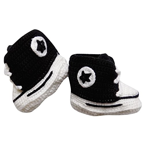 So Sydney Girls Boys Crochet Novelty Fall Shoes Baby Infant Boots Crib Shoe (L (6-9 Months), Chuck -