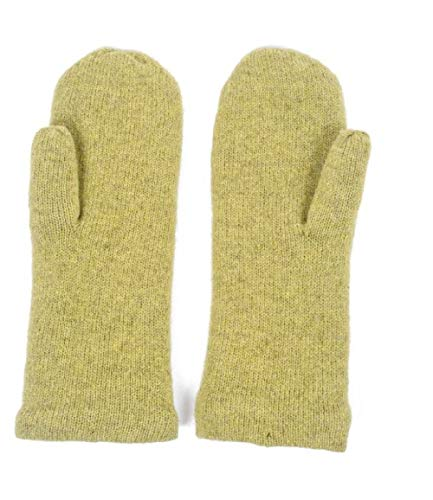 Two Danes Handy Mittens Lime -100 Percent Lambswool Exterior