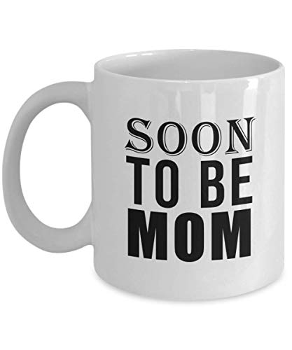 Soon to be Mom Gifts, Coffee Mug for Pregnancy Announcement, Baby Shower Idea (White Ceramic Cup, 11 -