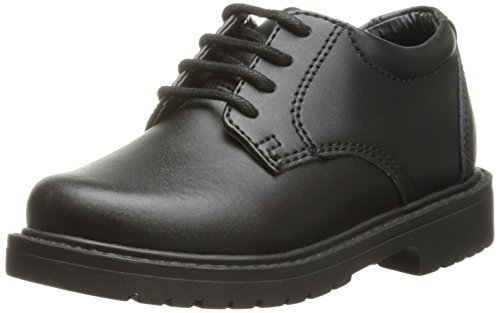 Academie Gear Scholar Saddle Shoe (Toddler/Little Kid/Big Kid),Black,9 W US Toddler