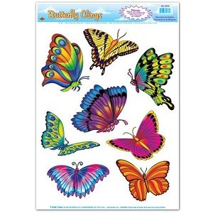 Butterfly Clings (Butterfly Clings Party Accessory (1 count) (8/Sh))