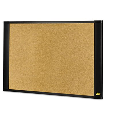 Sticky Cork Board, 48x36, Frame Color Graphite, Sold as 1 Each