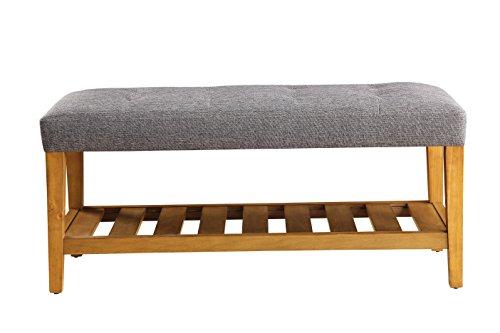 ACME Furniture Acme 96686 Charla Bench, Gray & Oak, One Size