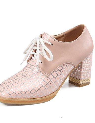 Tacones Zapatos Robusto de cn43 ZQ uk8 Rosa 5 hug eu42 us8 Semicuero Blanco 5 Vestido cn43 pink mujer 5 us10 Tacones white Tacón Redonda Azul 5 uk8 us10 cn39 uk6 Punta pink eu42 eu39 zEww5qrX