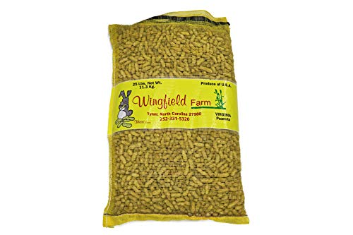 Wingfield Farm WINGFIELD-25 25 lb Virginia in Shell Animal Peanuts (25lb Bag) for Wildlife, Yellow (Best Peanuts In The Shell)