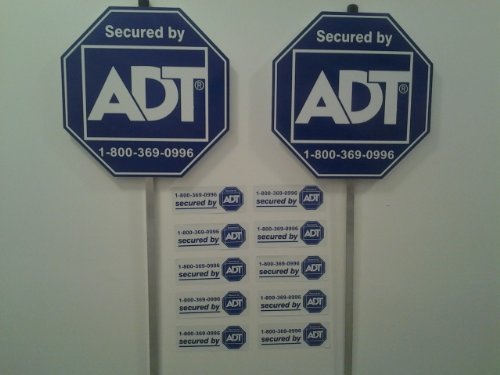 Hot New Special August Sign Sale! 2 Adt Home Secure Alarm Yard Signs 10 Decals Stickers. Help Keep Your Family Protected These Great Anti Theft Signs! Protection Any Business!.