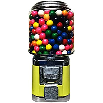 Wholesale Vending Products All Metal Bulk Vending Gumball Machine (Yellow)