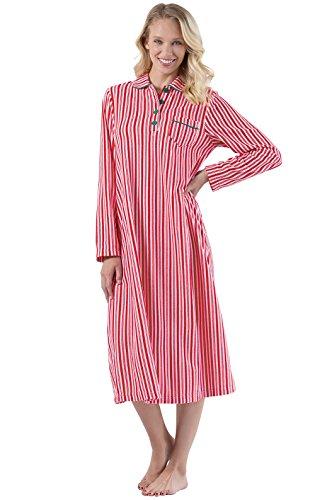 PajamaGram Womens Long Fleece Nightgown - Womens Christmas Nightgown