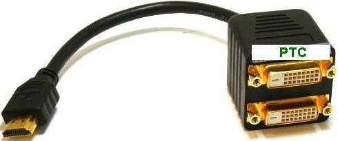 PTC HDMI to Dual DVI Premium Splitter Cable