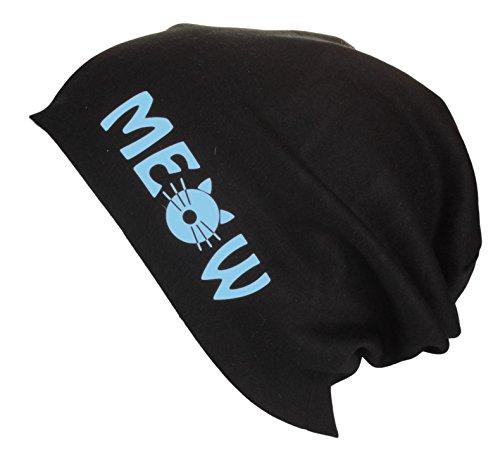 colores letras testa Jersey Blue gato con Meow Mujer Beanie largo verano Gorro de Hombre de Sky varios en Gorro 1qpnIaYgI