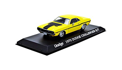 1970 Dodge Challenger R/T Yellow with Black Stripes 1/43 by Greenlight 86303