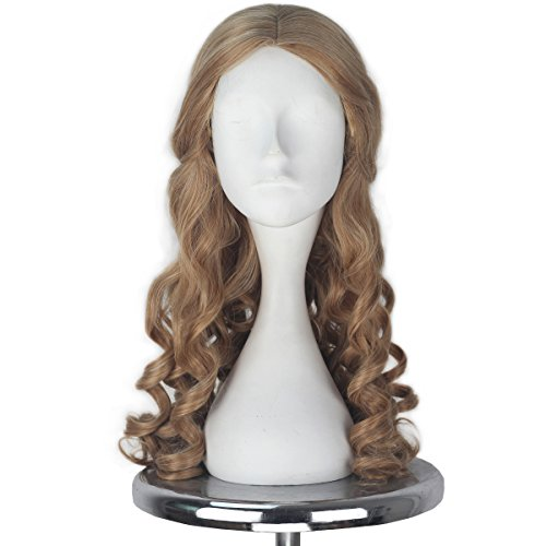 Miss U Hair Women Girl's Brown Curly Halloween Cosplay Costume Wig Lolita Adult Kids