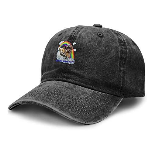 (Sloths Ride Corgi Rainbow Unisex Stylish Adult Cowboy Hats Adjustable Hat)