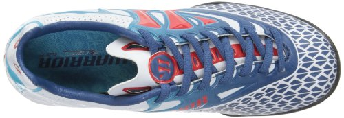Warrior Skreamer Combat Junior Turf Jungen Fußballschuhe White/Dark Navy/Fiery Red