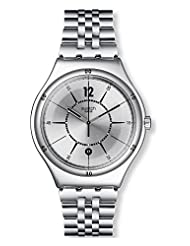 Swatch Men's Moonstep YWS406G Stainless Steel Wrist Watches