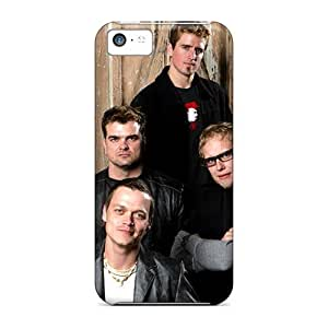 Shock Absorbent Hard Phone Case For Iphone 5c (Whf20056WoOY) Custom Nice 30 Seconds To Mars Band 3STM Image