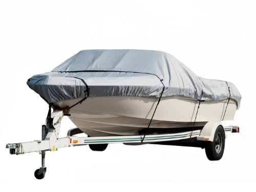 Komo Covers Heavy Duty Trailerable Boat Cover For Boats Tenders 20 To 22 Feet  Grey