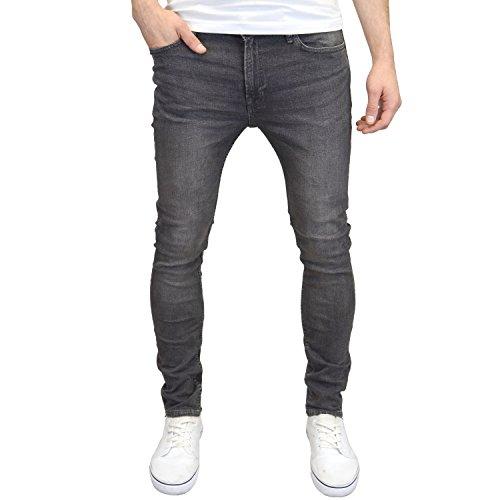 Jack & Jones Men's Skinny Fit Stretch Jeans (Grey, 30W x 32L) from Jack & Jones