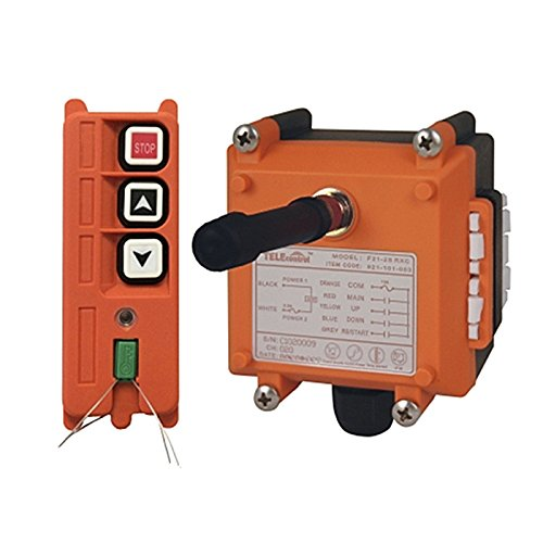 Overhead Crane Hoist 2Key Wireless Radio Remote Control Transmitter/&Receiver