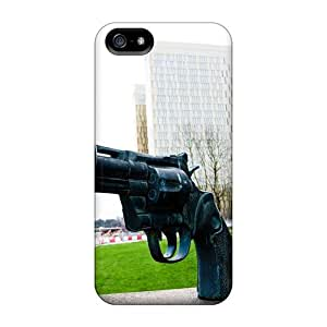 Hot Snap-on No Gun No Crime Judiciary Parliement Luxembourg Hard Cover Case/ Protective Case For Iphone 5/5s by icecream design