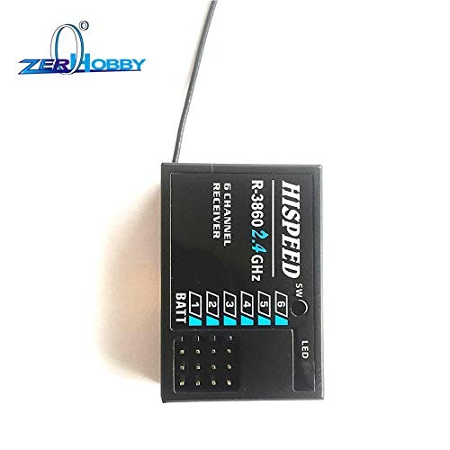 R-3860 2.4Ghz Hispeed 6 Channel Receiver for Hsp Remote Control T3920 Wincom Dishman Accessories Hsp Racing Rc Car Spare Parts Accessories Part No