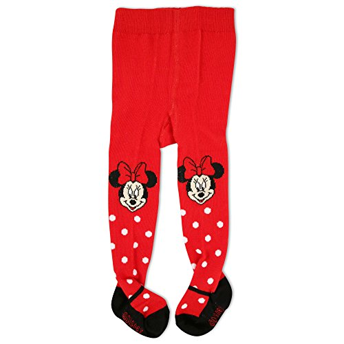 Disney Tights (Disney Baby Girls' Minnie Tights with Polka Dots, Red, 18-24M)