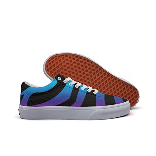 HTEAQWEF Zebra Rainbow Print Sneaker Flat Canvas Shoes For Womens Stylish