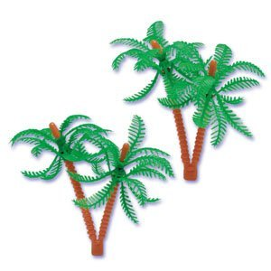 Palm Trees for Cake Decorating (24-Pack) (Tree Topper Plastic)