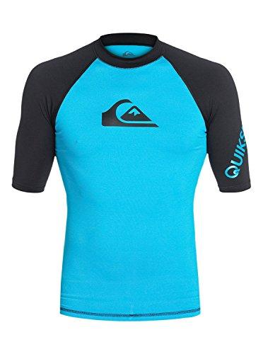 Time Short Sleeve Surf Tee Rashguard,Hawaiian Ocean/Black,XX-Large ()