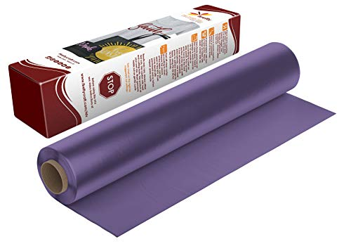 Firefly Craft Purple Heat Transfer Vinyl | Purple HTV Vinyl | Purple Iron On Vinyl for Cricut and Silhouette | 5 Feet by 12.25 Roll | Heat Press Vinyl for Shirts