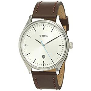 Titan Analog White Dial Men's Watch-1834SL01 / 1834SL01