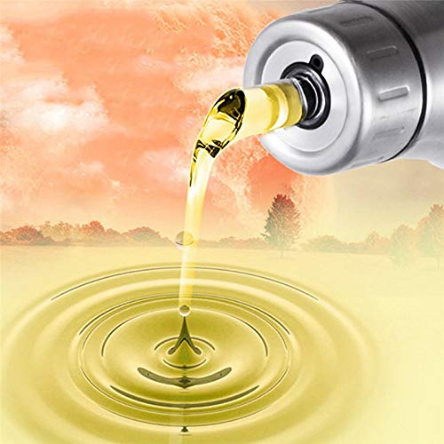 Leak-proof Stainless Steel Olive Oil Bottle Dust-proof Soy Sauce Vinegar Seasoning Storage Kitchen Cooking Tools 500/750/1000ml (Card Credit List Tier)