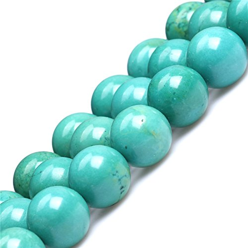 Old Turquoise Beads for Jewelry Making Gemstone Semi Precious 16mm Round Green 15