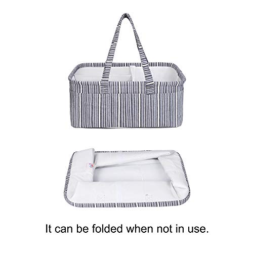 Diaper Caddy Organizer for Changing Table, Large, Gray