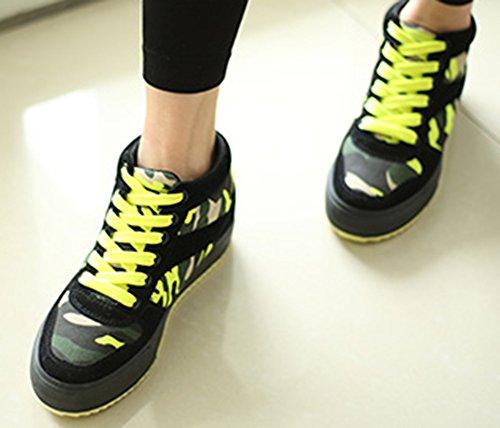 Camouflage Chaussures Aisun Femmes Ascenseur De Haut Hauteur 5zOpzq