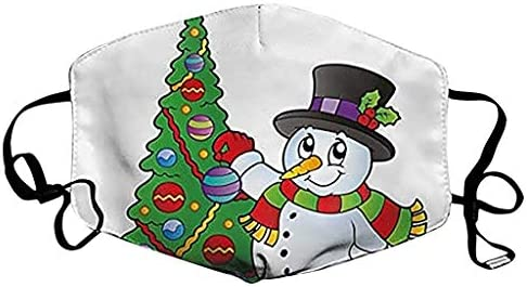 WXAN NEW PRODUSTS Adult Outdoor Cute Christmas Printing Adjustable Rope Washable Fa_ce_Ma_sks