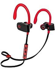 SBS Bluetooth-hörlurar trådlösa i öra – trådlösa hörlurar med 6 timmars drifttid, bygel, multipoint-teknik och mikrofon – trådlösa hörlurar i rött för Apple iPhone-mobiltelefon – trådlösa hörlurar