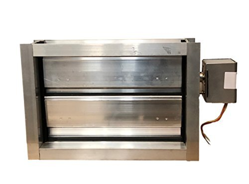 Escpec 12x8 Aluminum Motorized Damper/24 Vac, Normally Close (Power open/Spring (Electronic Damper)