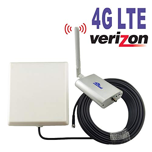 Verizon 4G LTE 700MHz/850MHz Band13/5 Cell Phone Signal Booster for Home and Office Cellular Mobile Phone Signal Amplifier RG58 Cable Repeater Full Kit Digital Antenna Cellular Phone