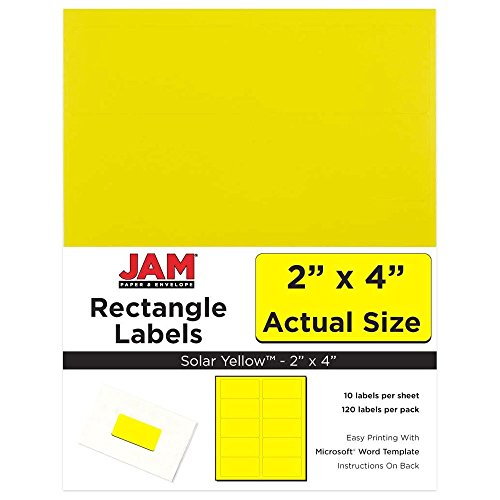 JAM Paper® Labels - Mailing Address Labels - Medium (2