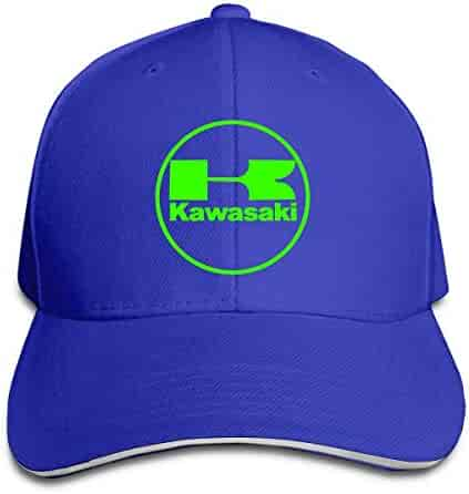 0add70cd170345 Kawasaki Racing Motocross Outdoor Sports Cotton Hats Adjustable Black