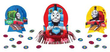 (amscan Thomas The Tank Engine Centerpiece Table Decorating Kit 23 Count Birthday)
