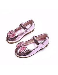 Tenworld Toddler Little Girls Dress Ballet Mary Jane Bow Flat Shoes