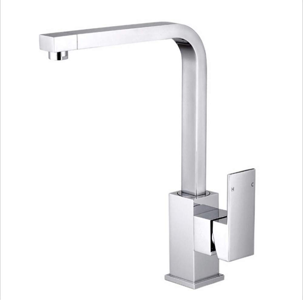 Water Tap Kitchen Taps Faucet Modern Kitchen Sink Taps Stainless Steelsingle-Hole and High-Temperature Faucet for Hot and Cold Noodle Basin
