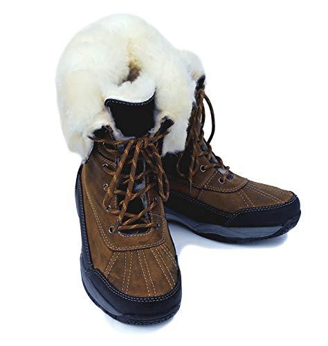 Rhinegold Arctic en Peau de Mouton doublé Cuir Winter Stable Marche équitation Bottes