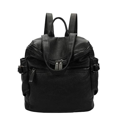 Daypack A Borsa In Donna Tracolla Black Zaino Morbida PU Pelle Moda CRUBzqx