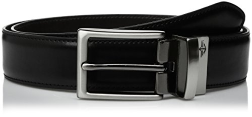 Dockers Men's  32mm Feathered Edge Reversible Stitch Belt,black/Brown,34 (Belt Dockers Black)